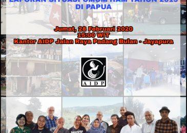 LAPORAN : SITUASI UMUM HAK ASASI MANUSIA TAHUN 2019 DI PAPUA